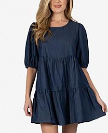 Cotton Tiered Mini Dress