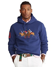 Men's Big & Tall Triple Pony Crest Fleece Hoodie