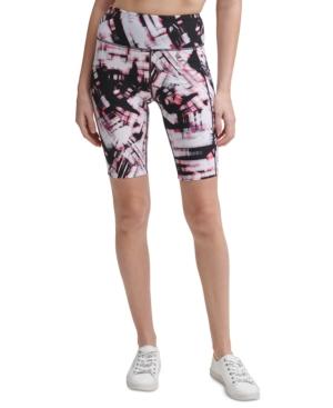 Calvin Klein Performance High-waist Bike Shorts In City Blur Blood Orange