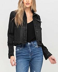 Women's Distressed Classic Denim Jacket