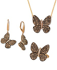 Chocolatier® Chocolate & Vanilla Diamond Butterfly Jewelry Collection in 14k Rose Gold
