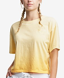 Women's Cotton Ombre Cropped T-Shirt