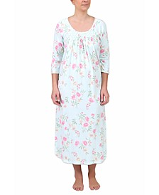 Floral-Print Long Nightgown