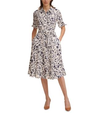 Calvin Klein Dresses FLORAL-PRINT SHIRTDRESS