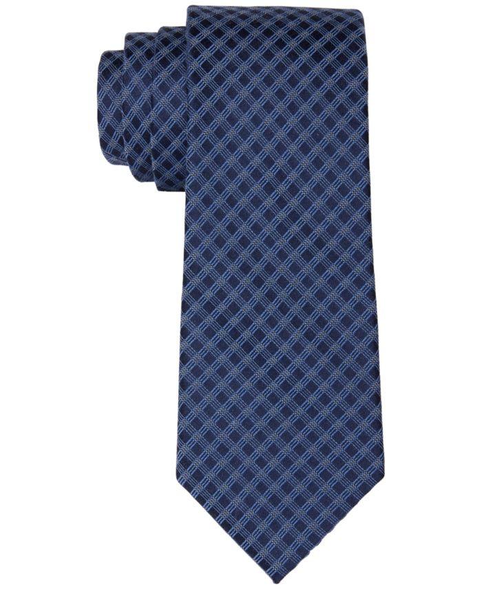 Calvin Klein Men's Slim Denim Check Tie   & Reviews - Ties & Pocket Squares - Men - Macy's