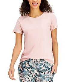 Solid Cotton Pajama T-Shirt, Created for Macy's