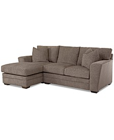 Loranna 2-Pc. Fabric Sectional with Chaise, Created for Macy's