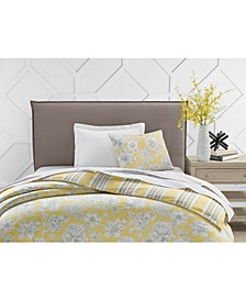 300-Thread Count Cotton Outline Botanical Standard Sham, Created for Macy's