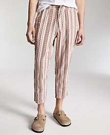 Men's Walworth Geo-Stripe Cropped Drawstring Pants, Created for Macy's