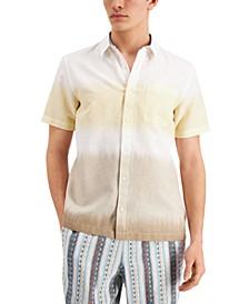 Men's Dean Linen Tie-Dye Short Sleeve Shirt, Created for Macy's