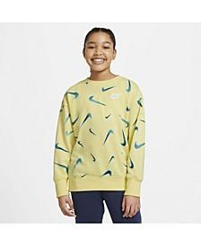 Big Girls Sportswear Printed Crew Sweatshirt