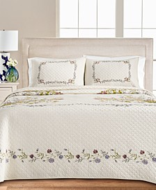 Floral Bouquet Queen Bedspread, Created for Macy's