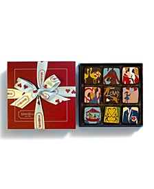 Red Heart Chocolate Ganache, 9 Piece