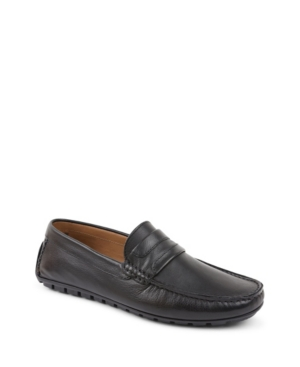 Bruno Magli Men's Xeleste Penny Loafer Men's Shoes In Black Leather