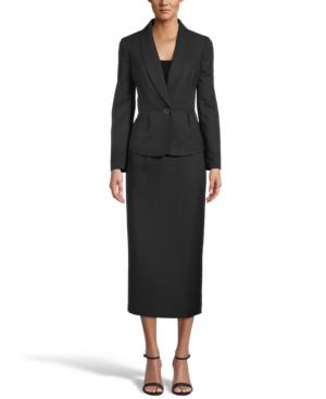 Shawl-Collar Skirt Suit