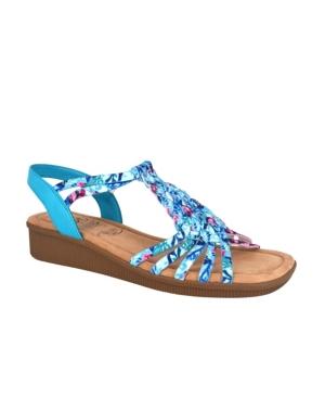 Rosette Wedge Sandal Women's Shoes