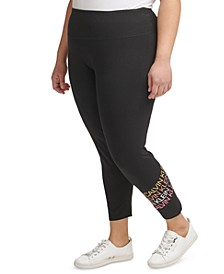 Plus Size Stripe Logo Leggings