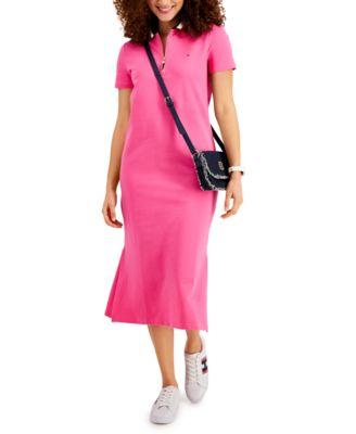 Zip Polo Midi Dress