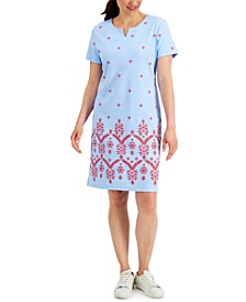 Seersucker Embroidered Dress, Created for Macy's