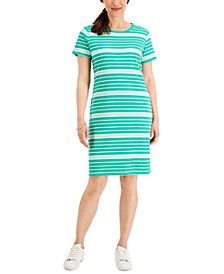 Playful Stripes T-Shirt Dress, Created for Macy's