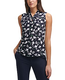 Twisted Floral-Print Top