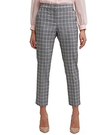 Sloane Windowpane Ankle Pants