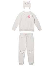 Toddler Girls 3 Piece Minky Outfit Set