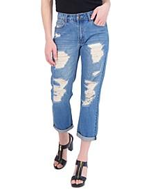Juniors' Ripped Boyfriend Jeans