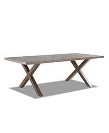 "Crossroads Outdoor Aluminum 86""x 42"" Rectangle Dining Table"