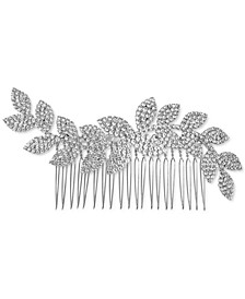 INC Silver-Tone Pavé Leaf Sprig Hair Comb, Created for Macy's