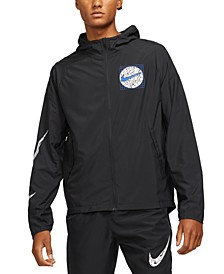 Men's Essential Wild Run DWR Color-Changing Logo-Print Hooded Jacket