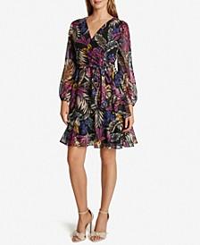 Chiffon Printed Tiered Dress
