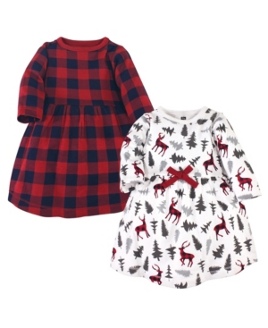 Hudson Baby Cottons BABY GIRLS COTTON DRESSES, 2 PACK