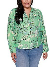 Black Label Plus Size Floral Print Shirt