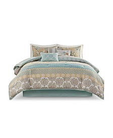 Willa Queen Cotton Printed Comforter, Set of 7