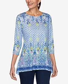 Plus Size Knit Provencal Top