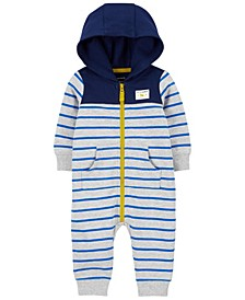 Baby Boy Zip-Up French Terry Jumpsuit