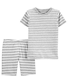 Baby Boys and Girls Striped Pajama Set, 2 Pieces