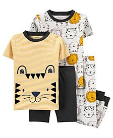 Baby Boys and Girls Lion Pajamas, 4 Pieces