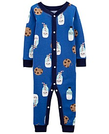 Baby Boys Milk and Cookies Footless Pajamas