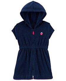 Baby Girls Strawberry Hooded Cover-Up