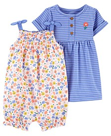 Baby Girl Romper and Dress Set