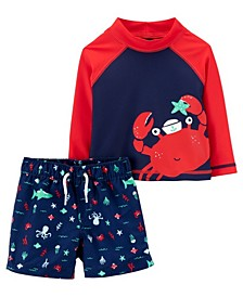 Baby Boys Rash Guard Set, 2 Pieces