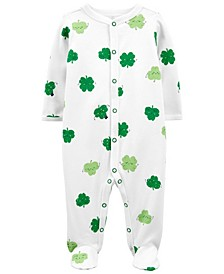 Baby Boy or Girl St. Patrick's Day Snap-Up Cotton Sleep N Play