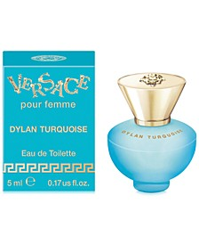 Receive a Free Deluxe Mini with any large spray purchase from the Versace Dylan Turquoise fragrance collection