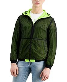 Men's Acid Lime Reversible Hooded Jacket