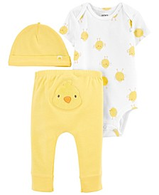 Baby Boys and Girls Easter 3-Pc. Pants Set