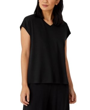 Eileen Fisher Tops BOXY V-NECK TOP