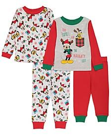 Mickey Mouse Toddler Boy 4 Piece Pajama Set