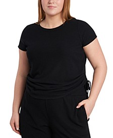 Plus Size Side-Ruched T-Shirt